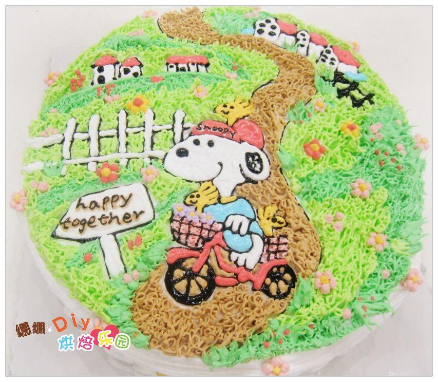 园』个性diy创意手绘蛋糕