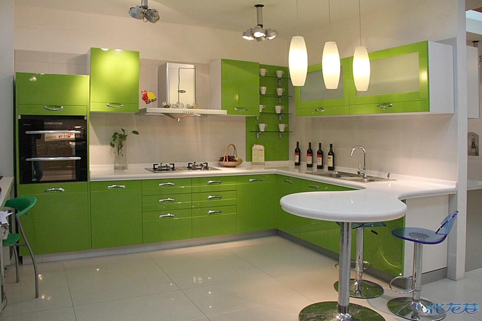 厨房欧式绿色装修效果图