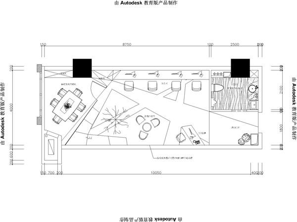 室内铺装手绘平面图