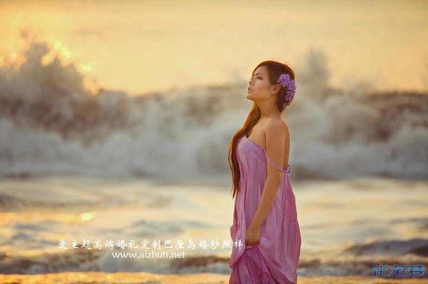 描述:爱主题巴厘岛婚纱照样片