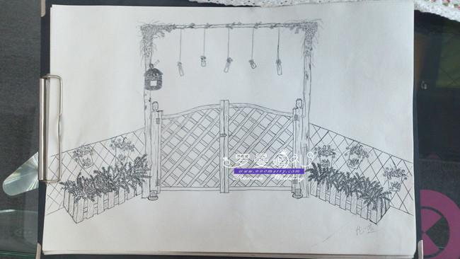 新北区草坪婚礼手绘设计稿