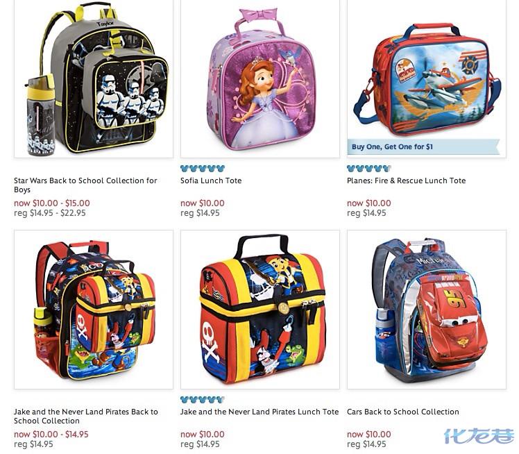 美国迪士尼折扣 书包可绣名字 女士包 0~2岁折