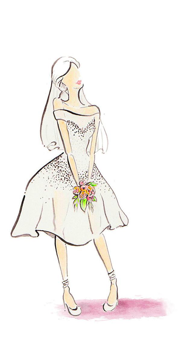2015最新婚纱流行 10款手绘稿