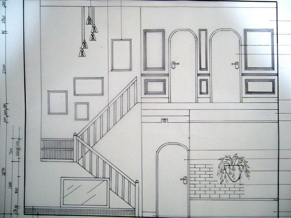 楼梯俯视图手绘