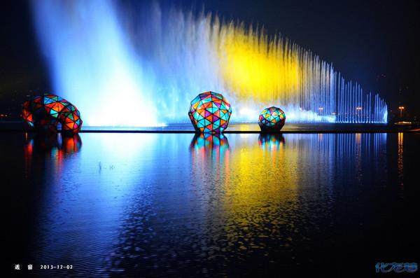 常州北站喷泉分享,可与国外的迪拜音乐喷泉以及美国