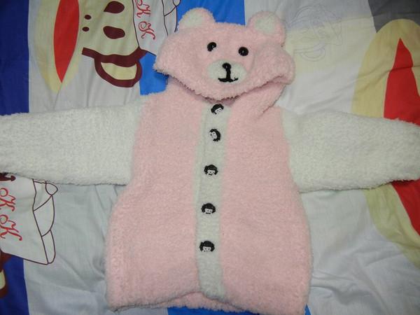 儿童内衣清仓,可爱的珊瑚绒编织毛衣上位啦