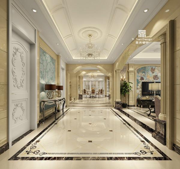 【翌天设计】 私人别墅   500㎡ 欧式风格,典雅与休闲,尽显精致生活